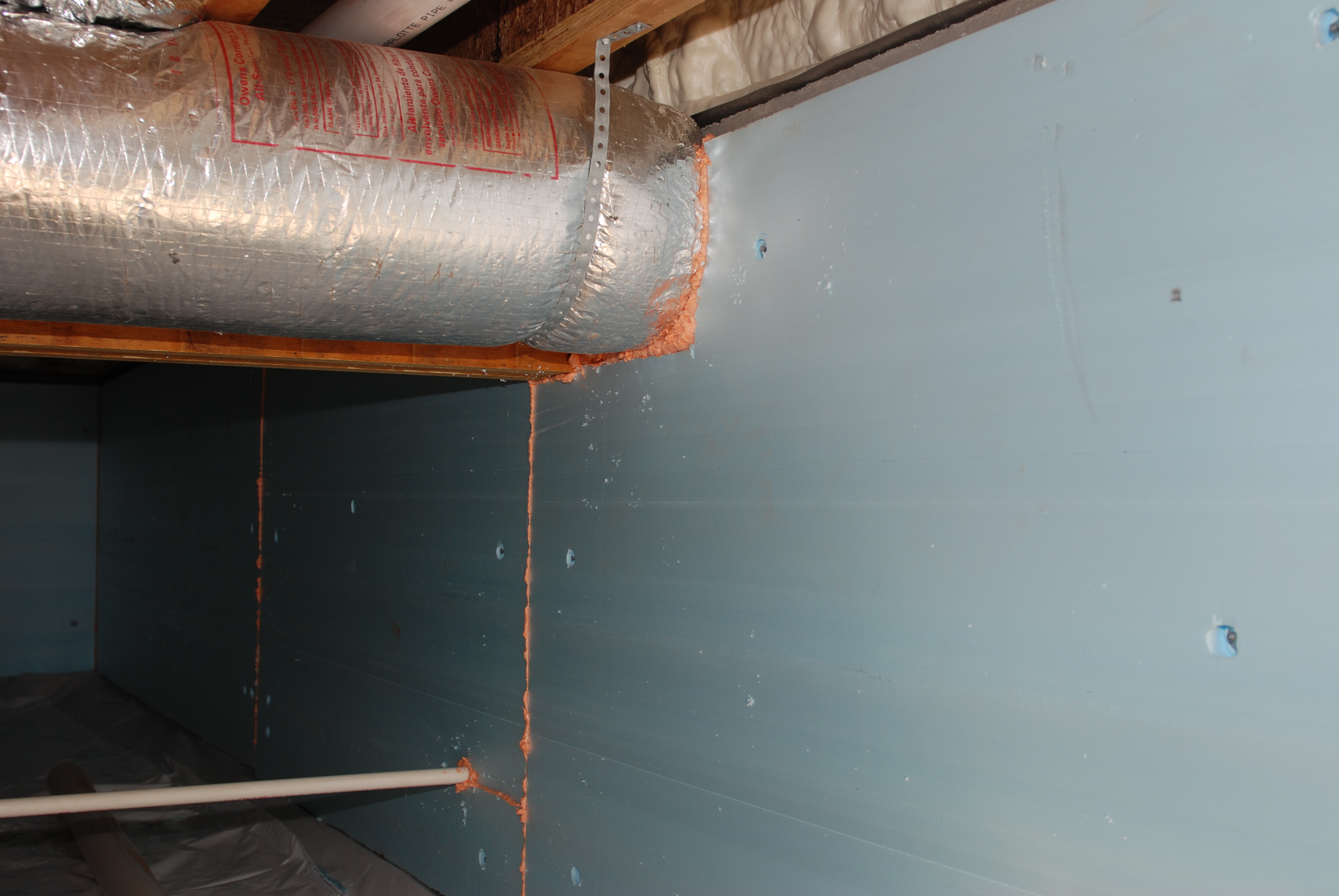 Insulation Specifically Fibergl Is Often Used In The Floor Joists A Bat Or Crawl E If It Not Contact With