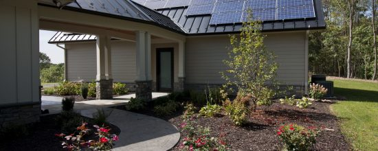 solar pv custom green home