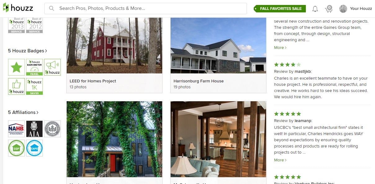 Our Use Of Houzz Has Also Helped As Past Clients Have Written Reviews About  Their Experiences With Me During Design. Builders Have Written About Their  ...