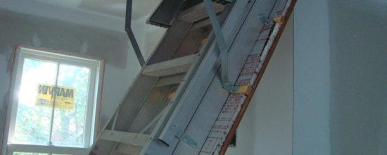 attic stair air leak