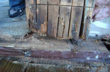 rotten wood wall